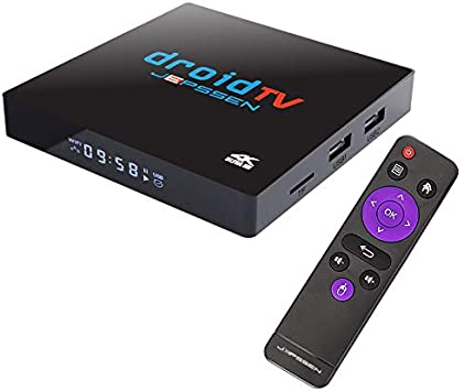 Android TV Box Jepssen Droid TV 4K XE1 Android 9.0 TV [4GB+64GB] CPU Multi-Core 64bit 2,0Ghz Smart TV Box Dual WiFi 2.4/5G 100M LAN, Bluetooth 4.1, 4K TV: Amazon.es: Electrónica