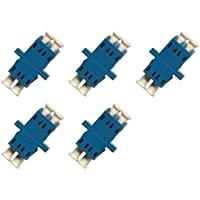 Fiber Optic Cable Adapter/coupler LC-LC Duplex Singlemode 5 Pack