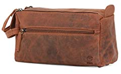 Fed up with poor-quality toiletry bags that get torn, worn and ratty-looking after just a few uses? Stop compromising and treat yourself to the Rustic Town Buffalo Leather Toiletry Bag.  Exceptional craftsmanship shines through in every detai...
