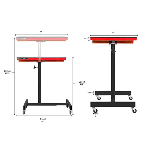 OEMTOOLS 24935 OEMTOOLS 24935 Red and Black 29'' Portable Tear Down Tray by OEMTOOLS (Image #1)