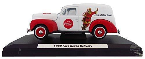 Coca Cola 0.05 Scale 1940 Christmas Ford Sedan Delivery Panel Van Die Cast Collectors Model by Coca Cola