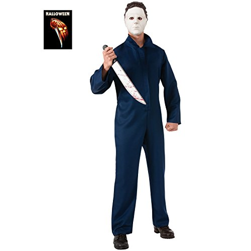 Rubie's Halloween Movie Michael Myers  Jumpsuit and Mask, Black, Standard ()
