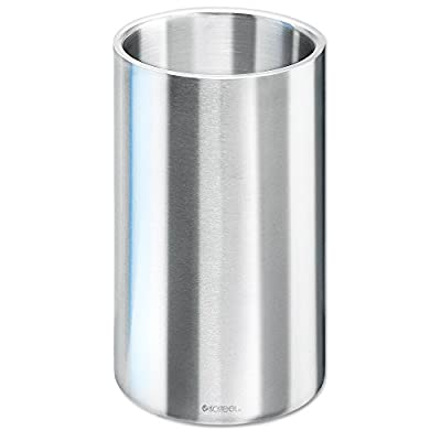 Isosteel VA-9568 Wine Cooler- Ice Bucket Double Wall 18/8 Stainless Steel with Matt Brushed Surface - BPA free