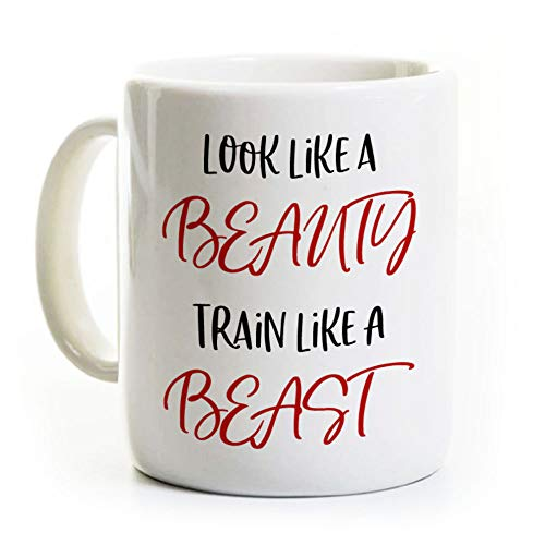 Personal Trainer Gift Coffee Mug - Train Like A Beast - Exercise Humor - Gift for Runner Athlete - Sports