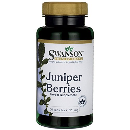 100 Berries Capsules Juniper - Swanson Juniper Berries Digestive Immune System Health Fiber Herbal Supplement 520 mg 100 Capsules (Caps)