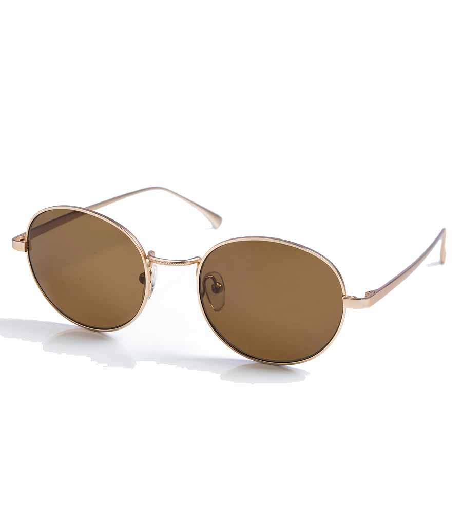 Touche Brown Round Lens Sunglasses, U