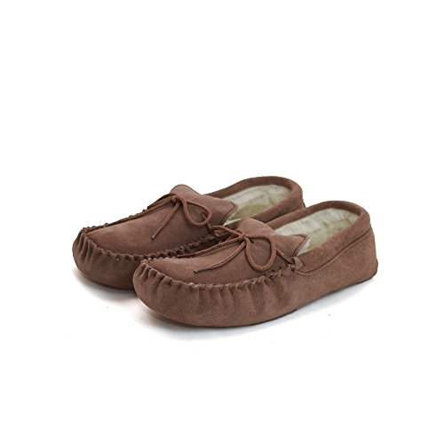 Eastern Counties Leather Unisex Wool-Blend Soft Sole Moccasins (10 US) (Camel) (Moccasin Soft Sole Mens)