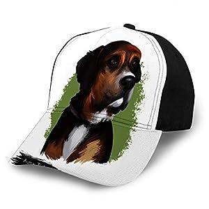 Baseball Cap Hats Snapback Austrian Black and Tan Hound Dog Breed Digital Art W 2