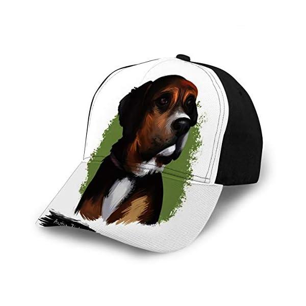 Baseball Cap Hats Snapback Austrian Black and Tan Hound Dog Breed Digital Art W 1
