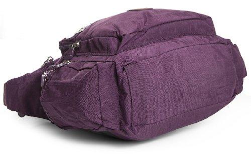 Big Handbag Shop - Bolso cruzados de tela para mujer One Rojo