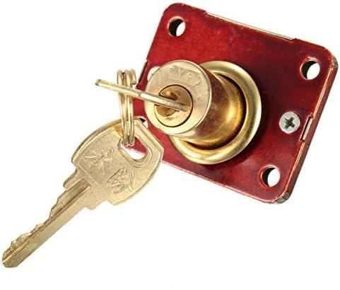 Queenwind デスクドロアードロワー用のデッドボルトロック収納ボックスキャビネット戸棚パネル2つのキー