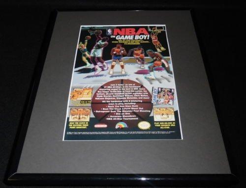 NBA All Star Challenge 2 1992 Game Boy Framed 11x14 ORIGINAL Advertisement (Nba All Star Challenge 2 Game Boy)