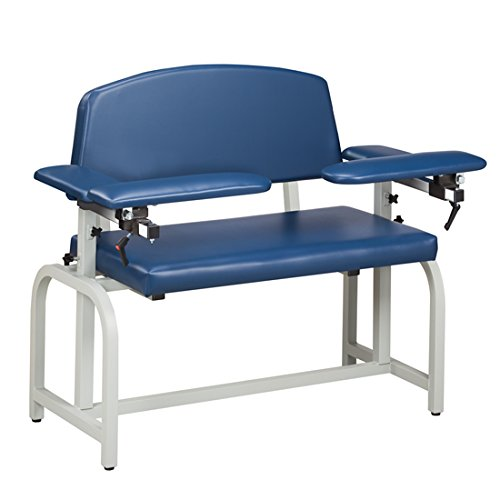 (Phlebotomy Equipment - Royal Blue Lab X Series, Extra-Wide, Blood Drawing Chair with Padded Arms - CL-66000)