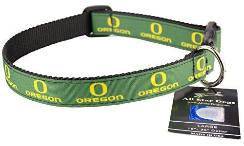 - Oregon Ducks Ribbon Dog Collar - Large