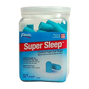 Super Sleep Comfort Foam Ear Plugs 50 Pair
