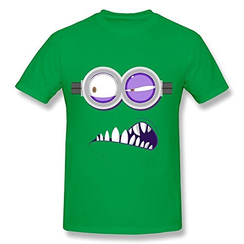(HD-Print Geek Anger Expression Tee For Men ForestGreen Size)