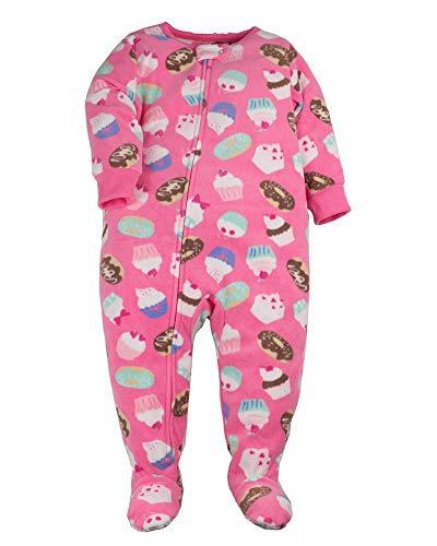 - Carter's Baby Girls' 12M-24M Princess Monkey Fleece Pajamas Pink 24 Months