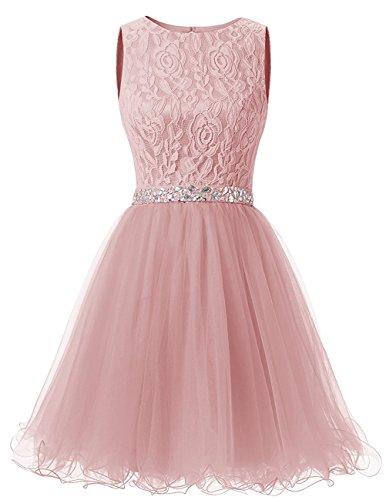 Erröten Damen Perlstickerei Cocktailkleid Kleid AbendKleider Brautjunfer Abschlussball Beyonddress Kurz Hq8p66