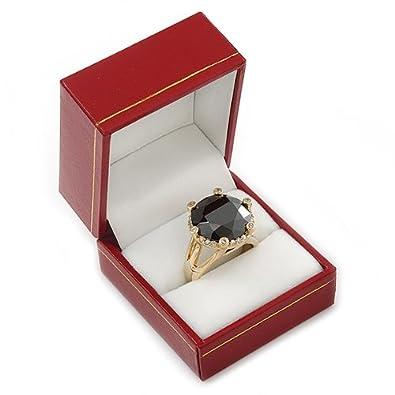 Amazon.com: Rojo Borgoña polipiel Anillo Caja: Jewelry