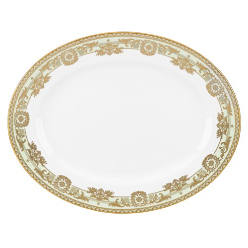 Lenox Marchesa Couture Rococo Leaf Oval Platter