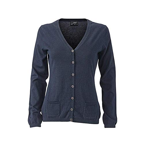 James and Nicholson Womens/Ladies Cardigan (S) (Navy Melange)