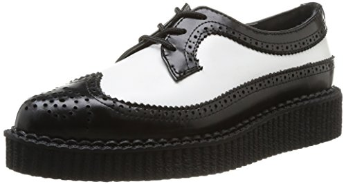 De De Blanc Tuk Creeper Creeper Creeper Sport Pointu Unisexe Noir Adulte noir Haut Chaussures HqwvHYf