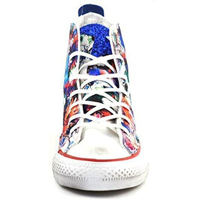 Converse Star Hi Canvas Ltd Flower Royal Glitter 1c16sp01 Sneakers Women-40