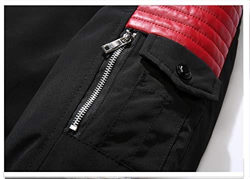 Homme Veste Jjzxx 001 Fourrure De Coton A Capuche Section Loisirs Noir rouge Hiver Blousons Col vent Mode Manteaux Longue Camouflage Manteau Top Epaissir Coupe dpzxqSp1rw
