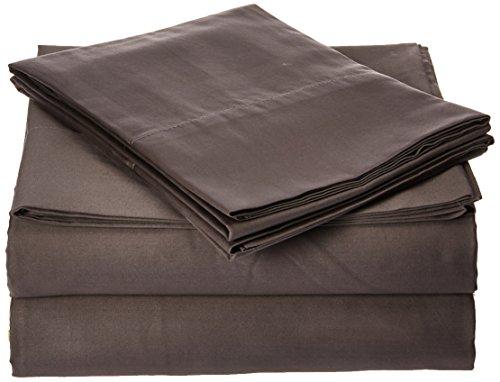 Sleep Philosophy SHET20-874 300TC Liquid Cotton Sheet Set Full Grey,Full (300tc Sheets Full Sheet Set)