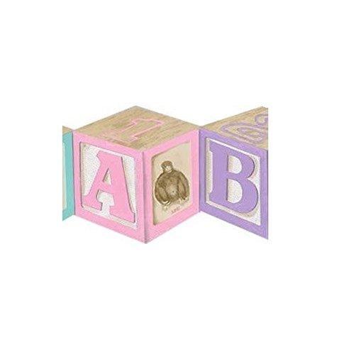 Block Wallpaper Border - Alphabet Wood Blocks Wallpaper Border