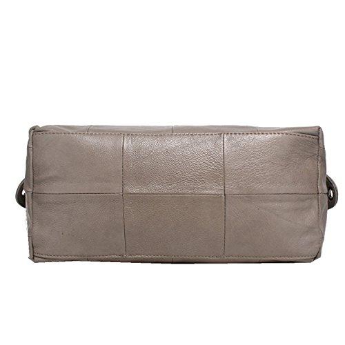 Bolsos Nuevos De Yy.f Bolsos Simples Bolso De Moda De Moda Bolso De Cuero Clásico Salvaje Multi-color Grey