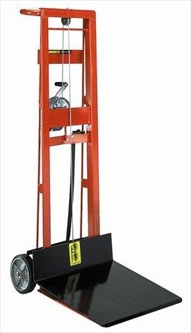Wesco 260015 Steel Frame 2 Wheeled Winch Pedalift, 750-lb. Capacity, 40