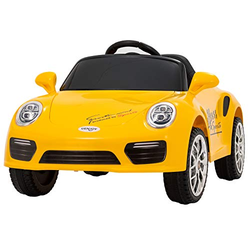 Uenjoy Kids Ride on Cars 6v Battery Power Kids Electric Vehicles with Wheels Suspension,MP3,Remote Control,Headlights and - Cars Battery Kids