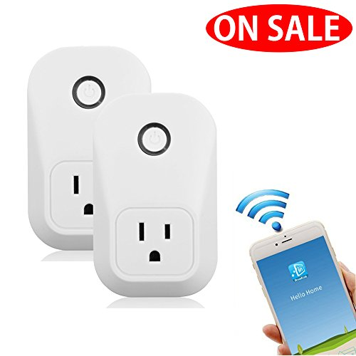 2 Pack Mini Wifi Smart Plug Compatible with Alexa Google Home, Wireless Smart Socket Outlet Switch with Timing Function, Control Your Devices from Anywhere, -ON SALE by BuycitKy