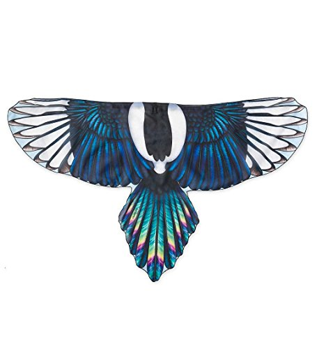 Brainy Bird Wings, Dress Up and Pretend Play Costume for Kids - 52'' Wingspan - Magpie ()