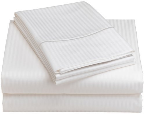 Renaissance Collection 600-Thread-Count Woven Cotton Stripe Queen Sheet Set, - Thread Collection Renaissance 600