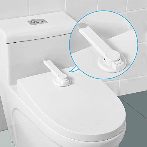 Baby Safety Toliet Locks, Adhesive Baby Proofing Device for The Toilet Seat Lid, No Tools Needed Easy Installation – Fits Most Toilets