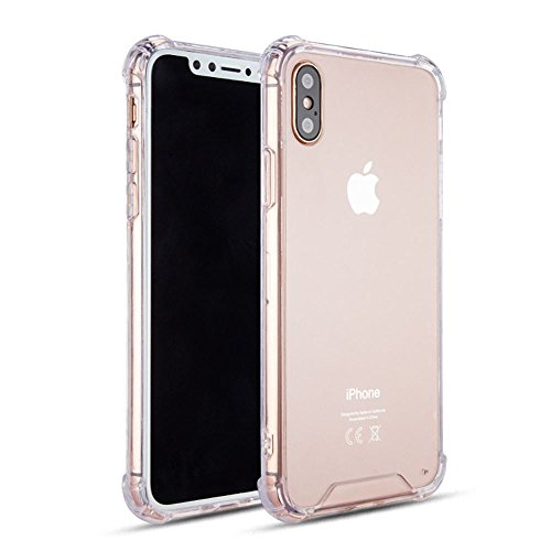 KIKO Apple iPhone X (Ten) Crystal Clear Transparent Case Skin Cover Shell - Bumper Protective Anti Scratch Shockproof Shatterproof Abrasion Resistant Drop Protection - Ultra Thin Slim (Clear)
