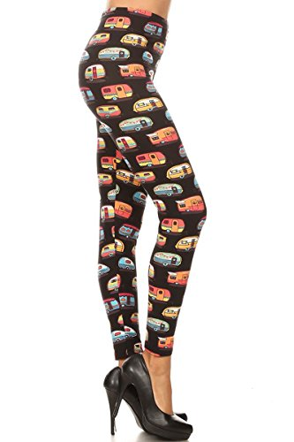 S504-EXTRAPLUS Camper Rides Print Fashion Leggings ()
