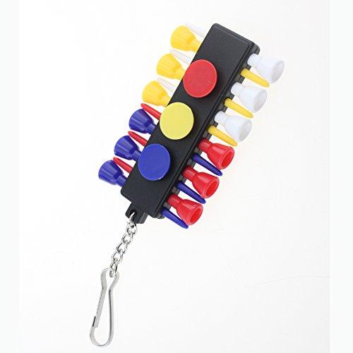 - Crestgolf Golf Tee Caddy Keeper 12 Tees 3 Ball Markers with Keychain