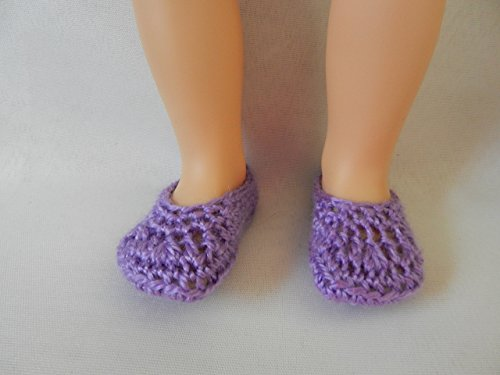Lilac Doll Slippers fit American Girl, Disney Toddler Princess, Baby Alive, Journey Girls, Our Generation and other 18 inch dolls.. ()
