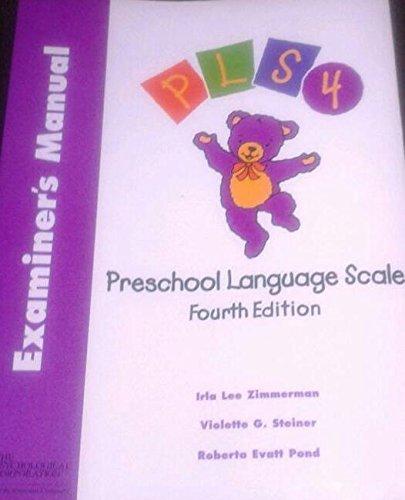 Introducing Preschool Language Scale: Examiner's Manual, English