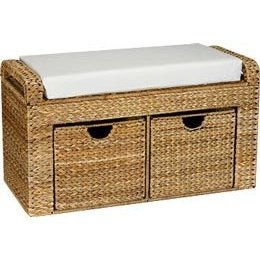 Banana Leaf Storage (HouseHold Home Indoor Banana Leaf Natural-Storage Seat with cushion-2 drawers)