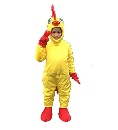 Deluxe Mascot Chicken Adult Costumes (MascotShows Kid's Deluxe Chicken Costume (One Size 3'7''-4'3''))