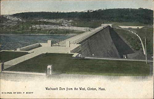 Wachusett Dam from the West Clinton, Massachusetts Original Vintage Postcard from CardCow Vintage Postcards