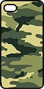 Camoflauge #7 Black Plastic Case for Apple iPhone 5 or iPhone 5s