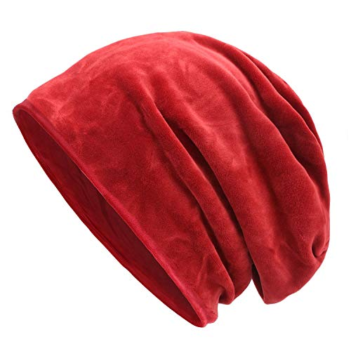 (Komene Beanie for Men,Winter Hat with Double Layers,Snug Beanies for Outdoor Sports)