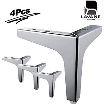 Amazon.com: Antrader - Juego de 4 patas para sofá de metal ...