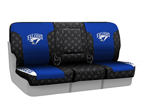 Coverking Custom Fit Front 40/20/40 NCAA Licensed Seat Cover for Select Nissan Titan Models - Neosupreme (U.S. Air Force Academy) by Coverking