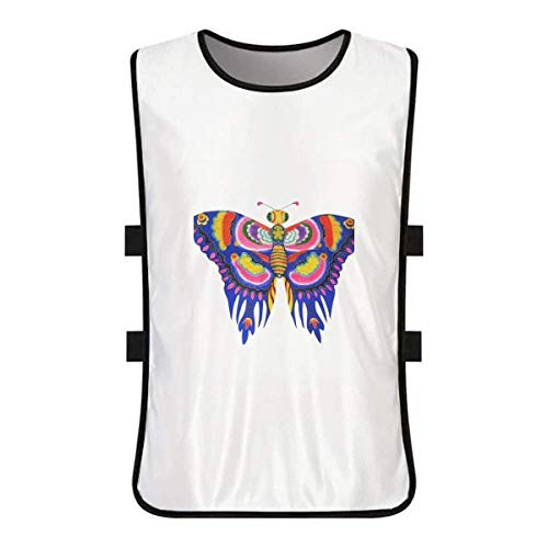 Butterfly Clothing Kite (DIYthinker Traditional Chinese Kite Butterfly Pattern White Training Vest Jerseys Shirt Cloth)